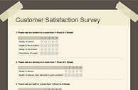 Online Survey Software examples for satisfaction surveys