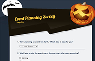 Online Survey Software examples for event surveys