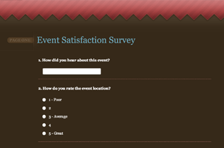 Post Event Survey Example
