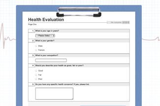 Health Evaluation Example