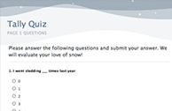 Online Survey Software examples for quizzes